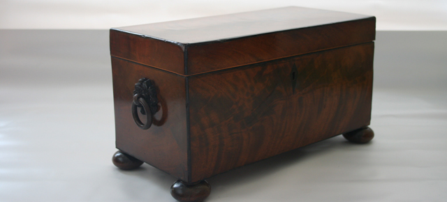 19th C Carl Mahogany Tea Caddy